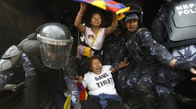 Human Rights Watch said Tibetans face a de facto ban on protests and increased surveillance [AFP]