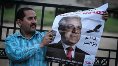Sabbahi is the only serious rival of popular former army chief Sisi in the presidential race [AFP]