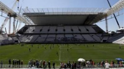 Arena Corinthians is scheduled to host the opening match of the 2014 World Cup on June 12 [Reuters]