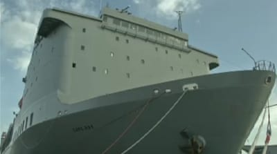 A massive ship is to be used as part of the process of destroying Syria's chemical weapons [Al Jazeera]