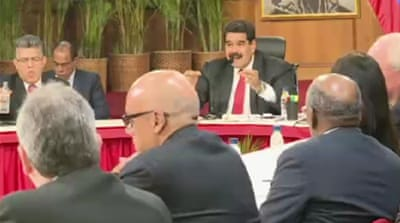 Venezuela's Maduro hold talks with opposition