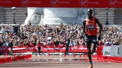 Kipsang, 32, dominated the 26.2-mile route and finished 11 seconds quicker than the previous best  [Reuters]