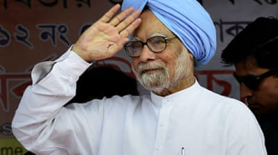 Manmohan Singh, who became the prime minister in 2004, is expected to hold the last cabinet meet on Saturday [EPA]