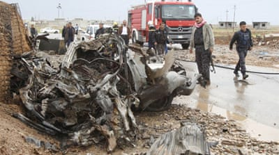 The car bombing near Kirkuk was one of two deadly attacks to hit northern Iraq on Sunday [EPA]