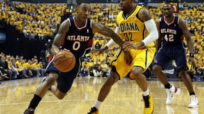 Jeff Teague scored a playoff career-high 28 points in the Hawks' surprise win [Reuters]
