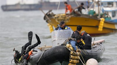 The Sewol ferry was carrying 476 people when it capsized and sank last Wednesday [EPA]