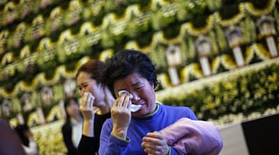 Funerals held for South Korea ferry victims