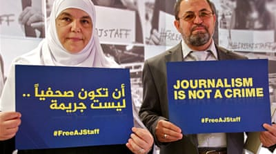 Thuraya Elshamy, mother of imprisoned Al Jazeera journalist Abdullah Elshamy, urges his release [Al Jazeera]