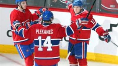 The win sealed Canadiens' first playoff series sweep in 21 years [Reuters]