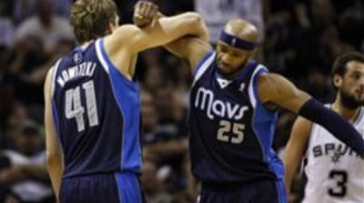 The win ended the Mavericks' 10-game losing streak to the Spurs [Reuters]