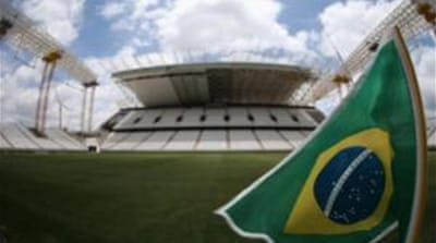 Brazil is still awaiting completion of three of its World Cup 2014 stadiums [GALLO/GETTY]