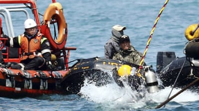 Search parties have recovered 183 bodies so far, but 119 people are still missing [AP/Yonhap]
