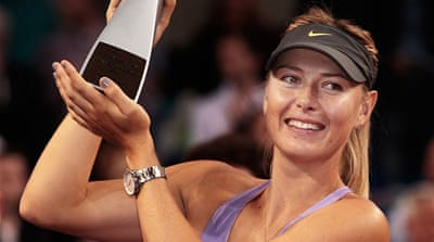 Sharapova claims her 30th career title and improves her record in Stuttgart to 13-0 [AFP]