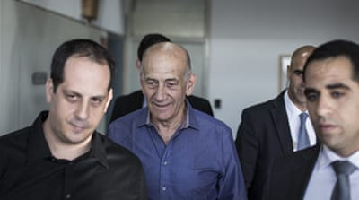 The charges against Ehud Olmert carry a maximum of seven years in prison [Reuters]