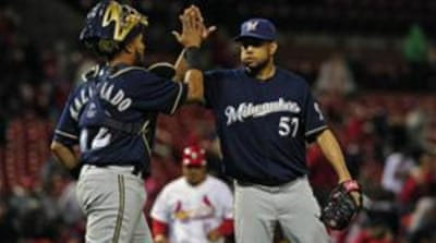 This was Brewers' second win over St Louis in two days  [Reuters]