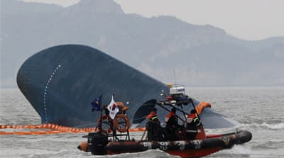 South Korea ferry evacuation caught on camera