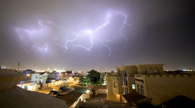 Spring-time storms in Doha