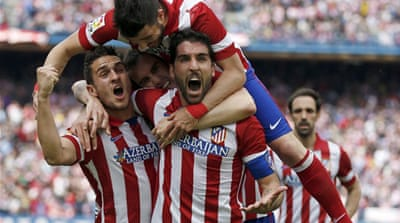 Raul Garcia's header secured a 1-0 victory for the leaders at home to Villarreal [AFP]