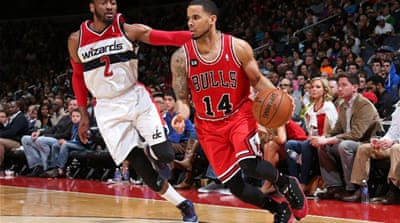 Augustin made six three-pointers for the Bulls, who are battling the Toronto Raptors for the third seed [AFP]