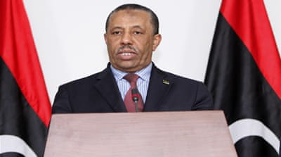 Former Defence Minister al-Thinni was appointed as acting prime minister for a period of 15 days [EPA]