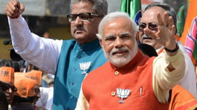Opinion polls say Narendra Modi is the favourite to be India's next prime minister [AFP]
