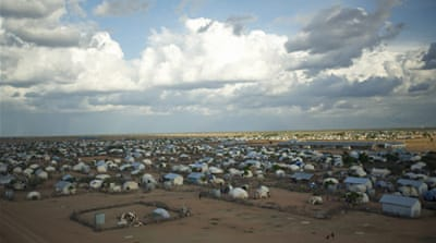 New arrivals to Dadaab aren't allowed to move about freely until they've been registered [Ahmed Farah/Al Jazeera]