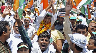 Rahul Gandhi rallied crowds in the holy Hindu city Varanasi [Reuters]