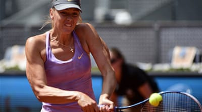 World number eight Maria Sharapova recovered to win in straight sets 6-1, 6-4 [AFP]