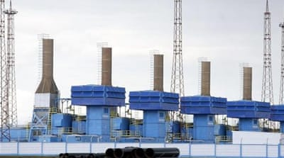 Russian natural gas transits through Ukraine supply about 15 percent of European needs [AP]