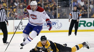The Bruins lead the best-of-seven series 3-2, with a chance to eliminate the Canadiens in the next fixture [AFP]