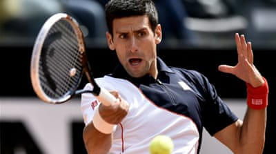 Djokovic, a two-time Rome champion, committed just nine unforced errors to Stepanek's 27 [AFP]