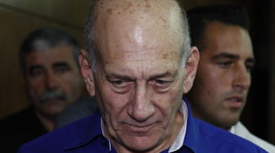 Omert is the first former prime minister of Israel to be convicted of bribery and of perjury  [Reuters]