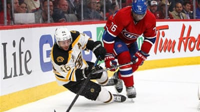 The Canadiens lost their 2011 Game 7 in overtime to the Bruins, who went on to win the Stanley Cup [AFP]
