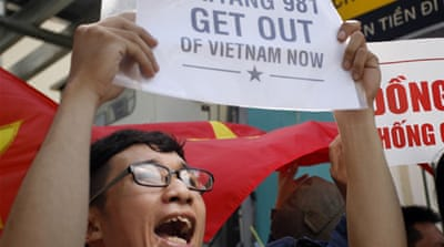 Vietnam anger rises over South China Sea