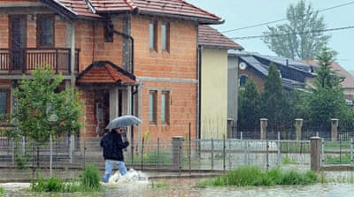 Several homes in Sarajevo have been evacuated as the rivers continued to rise. [AFP]
