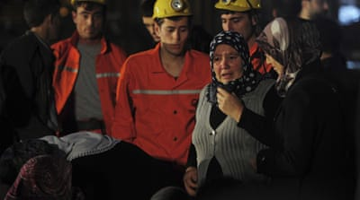 Grief and rage of Turkish miners' relatives