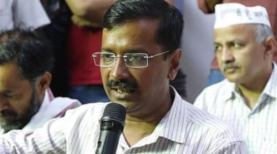 The Aam Aadmi Party won only four seats at the country's just-concluded general election [EPA]
