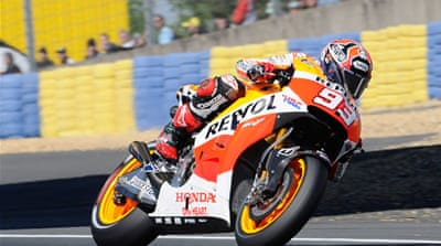 Marquez is the first rider to win five races in a row from pole since Australian Mick Doohan in 1997 [Getty Images]