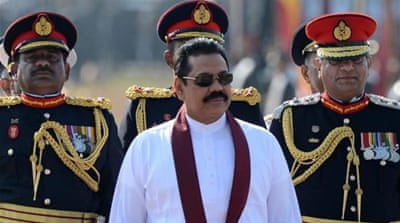 President Rajapaksa was widely expected to call for a snap vote [AP]
