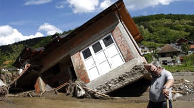 More than a quarter of Bosnia's population of 3.8 million people has been affected by the floods [Reuters]