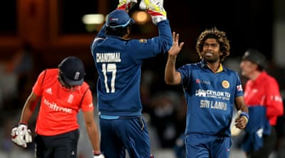 Malinga finished with three wickets for 28 runs off his four overs [Getty Images]