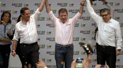 Colombian President and presidential candidate Juan Manuel Santos is viewed positively in the USA and Europe [AFP]