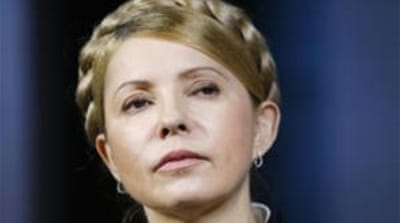 Three-year prison term has heightened Tymoshenko's Joan of Arc-like status among her supporters [AP]