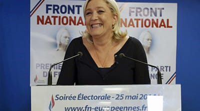 Le Pen called for the dissolution of the French national assembly [Reuters]