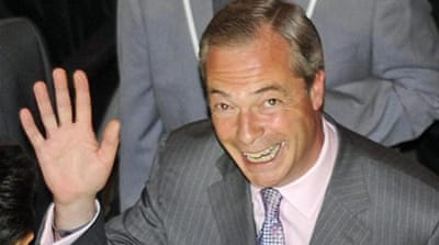 Nigel Farage's UK Independence Party won more than 27 percent of the vote [Reuters]