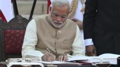 Modi sworn in as India's prime minister
