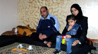 Refugee Alaa Barakat and his family entered Gaza through tunnels from Egypt [Khaled al-Ashkar/Al Jazeera]