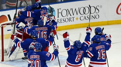 The last time the Rangers made the Stanley Cup finals was in 1994 when they beat the Vancouver Canucks [AFP]