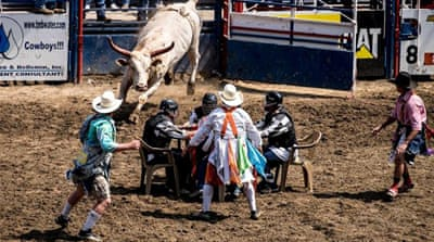 In Pictures: Bucking broncos at US jail rodeo
