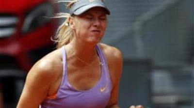 Sharapova, the eighth-seed, won the match despite losing the opening set [Reuters]